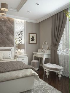 Bedroom Layout Design Awesome 60 Ideas For 2019 Feminine Bedroom, Modern Bedroom, Contemporary Bedroom, Blush Bedroom, Bedroom Rustic, Bedroom Layouts, Suites, Bedroom Vintage, Home Decor Bedroom
