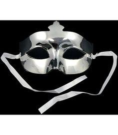 Plastic Crown Eye Mask: Silver Image