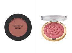 Bareminerals On The Mauve blush, $24 and Milani Rose Powder Blush, $5