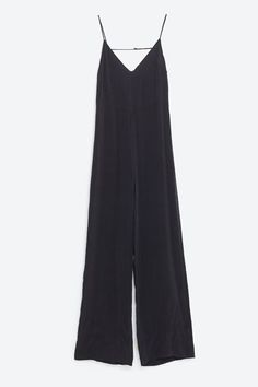 Things I Would Buy If I Didn't Have To Pay Rent #refinery29  http://www.refinery29.com/2016/04/108949/new-clothes-online-shopping-list#slide-7  Another easy breezy winner! Wear this jumpsuit alone or over a white tee.Zara Long Jumpsuit with Open Back, $69.90, available at Zara....