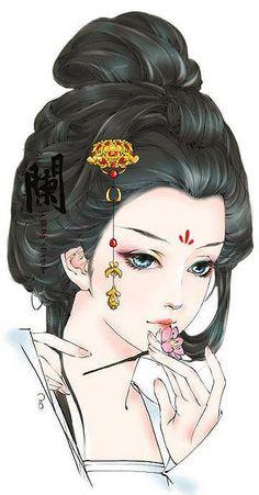 38 ideas chinese art girl asian beauty drawings for 2019 Geisha Kunst, Geisha Art, Manga Art, Anime Art, Manga Anime, Art Asiatique, Art Japonais, China Art, Beauty Art