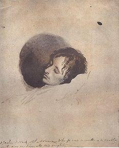 """John Keats on his deathbed"", Joseph Severn, 1821 Romantic Period, John Keats, Writers Write, Famous Art, English Literature, Inspirational Books, Historical Pictures, Romanticism, Portraits"
