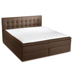 Morpheus Kontinentalsäng 160 cm - Mörkbrun - TheHome - Sovrum #sängar #beds