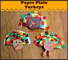 These paper plate turkeys are a cute Thanksgiving craft that kids of all ages ca. - These paper plate turkeys are a cute Thanksgiving craft that kids of all ages can do! Thanksgiving Art, Thanksgiving Preschool, Thanksgiving Crafts For Kids, Fall Crafts, Holiday Crafts, Fall Preschool, Thanksgiving Decorations, Holiday Fun, Holiday Ideas