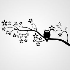 Owl on floral branch. Silhouette Curio, Silhouette Design, Kirigami, Machine Silhouette Portrait, 3d Cuts, Owl Crafts, Stencil Patterns, Pyrography, Paper Cutting