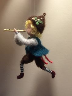 This cute shepherd with a pipe can be a nice decoration in the nursery. To this figure can be added also the sheep.  The hight is about 14 cm.