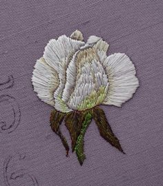 Trish Burr's designs:      See this piece in progress      See how it developed           The roses came from Trish Burr's book 'Long and Sh...