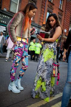 What they are wearing for #LFW. [Photo: Kuba Dabrowski]