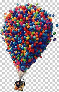 Up (Disney/Pixar Up) The Walt Disney Company Film Junior, others, Up movie house illustration, miscellaneous, heart, balloon png