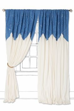 I'm always on the hunt for unusual curtains. I love these!