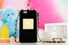 Hello Kitty Parfümflasche Handyhülle mit Kette für iphone 6 und iphone 6 plus…