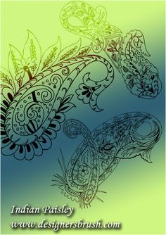 Indian paisley by ~designersbrush