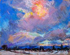 'December Sky' 8×10 Pastel on board  Posted by benhaggett on December 17, 2010