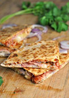 Hawaiian Pizza Quesadilla. NOM.
