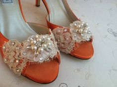 Lace Shoe  Lace Wedding Shoes  Lace Bridal Shoes  by Parisxox