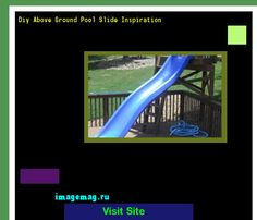 diy above ground pool slide inspiration 214239 the best image search