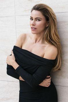 Sofia Vergara wearing Donna Karan New York Off-the-Shoulder Stretch-Jersey Tunic