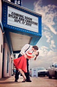 Gran idea para anunciar vuestra boda! #savethedatecinema