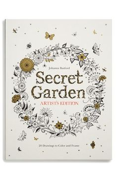 Chronicle Books Secret Garden Artists Edition Coloring Book Available At Nordstrom