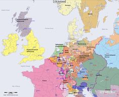 Online historical atlas showing a map of Europe at the end of each century from year 1 to year Map of Europe 1300 Northwest Renaissance, Family Tree Art, Historical Maps, History Facts, Middle Ages, North West, Genealogy, Photo Art, Timeline