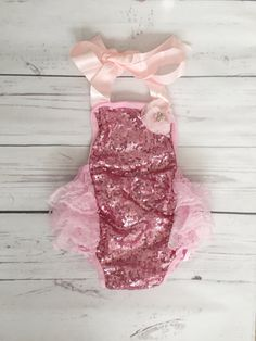 d253740aed08 Baby girl pink 1st birthday outfit-pink sequin birthday-pink glitter 1st  birthday- glitter bubble romper-baby girl cake smash outfit-unicorn