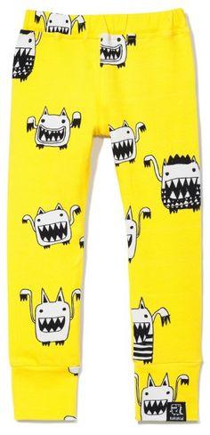 Kukukid Yellow Monsters Leggings