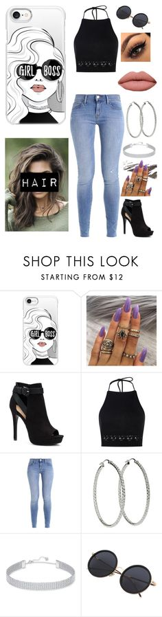 """""""Girl Boss"""" by stepupdancer ❤ liked on Polyvore featuring Casetify, Apt. 9, Boohoo and Swarovski"""