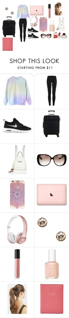 """""""Plane Ride"""" by fashionistagirl9898 on Polyvore featuring Polo Ralph Lauren, NIKE, Kate Spade, River Island, Gucci, Supra, Givenchy, Bare Escentuals, Essie and France Luxe"""