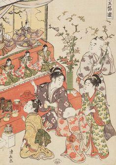 Children participating in the Hime Doll Festival. Ukiyo-e woodblock print circa 1794 by artist Torii Kiyonaga. Japanese Artwork, Japanese Prints, Geisha, Japan Painting, Traditional Japanese Art, Japan Art, Oriental, Museum Of Fine Arts, Old Art