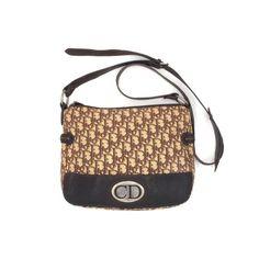 083af1b7fb4b Authentic Vintage Dior CD logo trotter brown crossbody bag