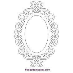 Embellished Silhouette Ornate Oval Frame Design - My Pin Scroll Saw Patterns, Scroll Design, Oval Frame, Designs To Draw, Wood Art, Picture Frames, Stencils, Jewelry Making, Decoration