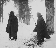 Soviet border guards at the border between Germany and USSR in 1940.