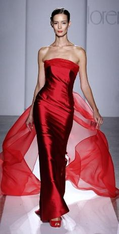 Red Dress ~ Classic Look Red Fashion, Couture Fashion, Beautiful Gowns, Beautiful Outfits, Elegant Dresses, Pretty Dresses, Red Gowns, Dream Dress, Ball Gowns