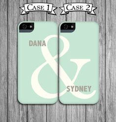 Best Friend Phone Cases - Mint Green and Linen Gray Ampersand - Mint iPhone 4 / 4S, iPhone 5, Galaxy S3 / S4, iPod Touch