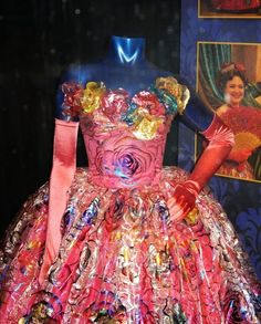 Cinderella Stepsister Anastasia ball gown detail