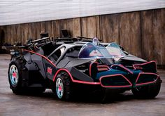 Latest Bat Mobile made to look like the old T.V. series version.