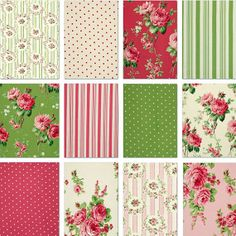 Custom Shabby Chic Crib Sheets or changing pad cover- Barefoot Roses Colection on Etsy, $37.50