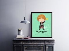 Why Spiders?  | #RonWeasley | #ArtPrint | #homeDecor Print | #Printable Quote | #Typography | #HarryPotter | #Hogwarts | #JKRowling by InspirationWallDecor on Etsy. Check more #digitalprint #walldecor #artprint themed at my #etsy store:  www.etsy.com/shop/InspirationWallDecor