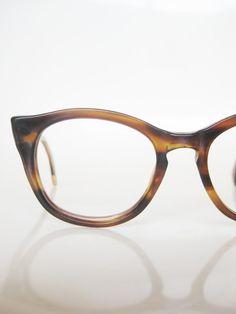 Vintage 1960s Liberty Round Cat Eye Glasses Eyeglasses Liberty USA American 60s Mid Century Mod Mad Men Chic Womens Ladies Brown