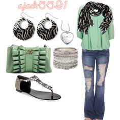 Love the mint color, with the zebra accents! Super cute!