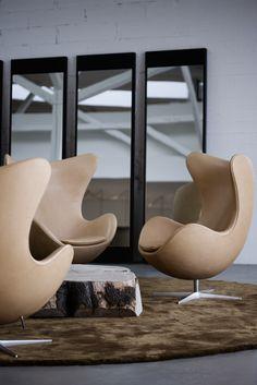 Arne Jacobsen's chair Ægget - Loved by @denmarkhouse