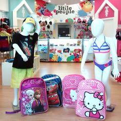Para el Regreso a Clases en la tienda Little People en el segundo nivel de San Juan Shopping Center encontraras una gran variedad de mochilas para los pequeños de la casa