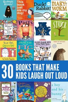 The funniest picture books for kids! So much fun for interactive reading.