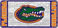 Florida Gators College Football - Gator - Mirrored License Plate - Car Truck SUV