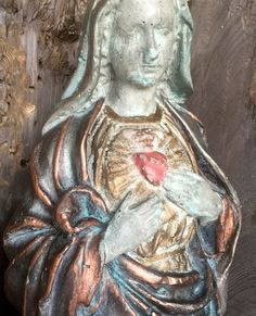 Immaculate Heart of Mary statue by ReginaAnnes on Etsy