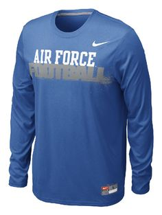 c57312a72da4 Air Force Falcons Royal Nike Conference Legend Dri FIT LS T Shirt