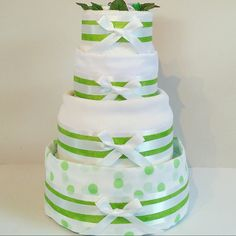 4 Tiers of glorious green & white. Our Nappy Cakes are packed full of everything a new Mother & baby needs!! 💚⚪💚⚪💚 #ZoeyDeZigns #NappyCakes #NappyCake #DiaperCakes #DiaperCake #BabyHamper #BabyShower #BabyShowerGift #CorporateGift #PracticalGifts #PerfectGift #Mum #BabyGift #Bespoke #Baby #Neutral #White #Green #Ribbon #Bow #MadeInAustralia #ShopMadeIt #EtsyShop #ShopEtsy #Delivered #AustraliaWide #Sydney #Melbourne #Brisbane #Canberra