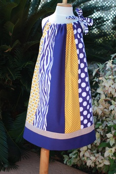 LSU Pillowcase Dress by almgdesigns on Etsy, $40.00