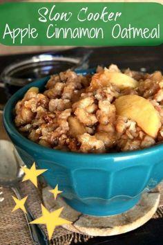 Slow Cooker Chili, Vegan Slow Cooker, Slow Cooker Apples, Crockpot Breakfast Casserole, Breakfast Crockpot Recipes, Oatmeal Recipes, Crockpot Meals, Brunch Recipes, Slow Cooker Breakfast