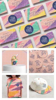 Brand Design for Ice Scream Shop in Bronx, New York, USA - World Brand Design Society : Pastel, bright, delicious sprinkle pop color combo Design Web, Game Design, Graphisches Design, Design Logo, Design Poster, Brand Identity Design, Graphic Design Branding, Packaging Design, Brand Packaging